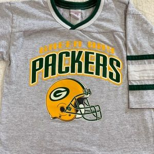 promo code ebd16 38556 Vintage Style Green Bay Packers Kids Shirt